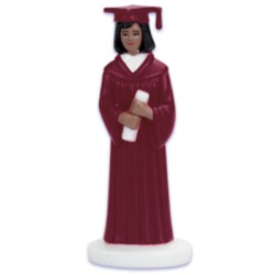 Female Graduate - Burgundy Robe - African American LARGE