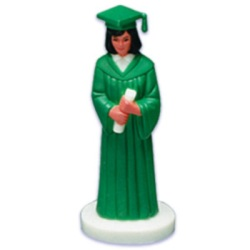 Female Graduate - Green Robe - African American LARGE