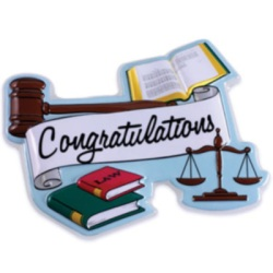Lawyer Grad Cake Top Decoration LARGE