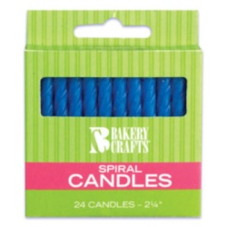 Spiral Candles - Blue LARGE