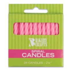Spiral Candles - Pink LARGE