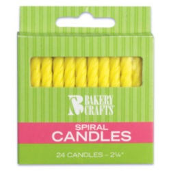 Spiral Candles - Yellow LARGE