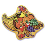 Thanksgiving Cornucopia Cake Top Decoration