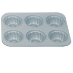 Non Stick Six Cavity Fluted Pan