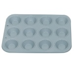 Non-Stick 12 Cavity Ribbed Tart Pan