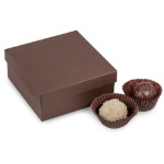 Candy Box - Small 2-PC  - Brown THUMBNAIL