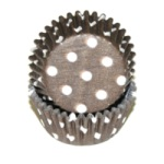 Mini Baking Cups - Polka Dot - Brown