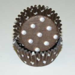 Standard Baking Cups - Polka Dots - Brown