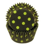 Standard Baking Cups - Dots - Black/Lime