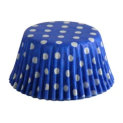 Standard Baking Cups - Polka Dots - Blue LARGE
