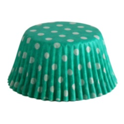 Standard Baking Cups - Polka Dots - Green LARGE