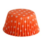 Standard Baking Cups - Polka Dots - Orange THUMBNAIL
