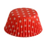 Standard Baking Cups - Polka Dots - Red