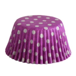 Standard Baking Cups - Polka Dots - Purple