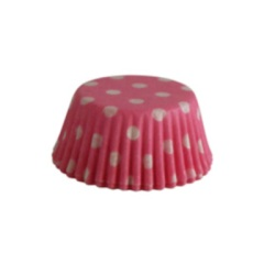 Mini Baking Cups - Polka Dots - Pink LARGE
