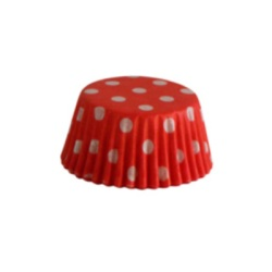 Mini Baking Cups - Polka Dots - Red LARGE