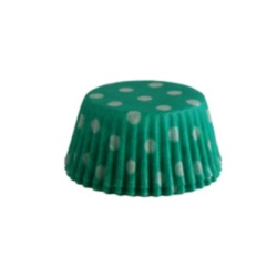 Mini Baking Cups - Polka Dots - Green LARGE