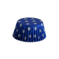 Mini Baking Cups - Polka Dots - Blue LARGE