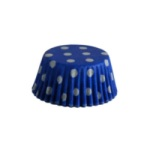 Mini Baking Cups - Polka Dots - Blue