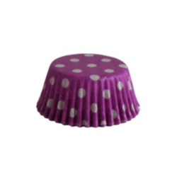 Mini Baking Cups - Polka Dots - Purple_LARGE