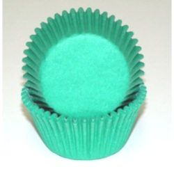 Mini Baking Cups - Solid - Green LARGE