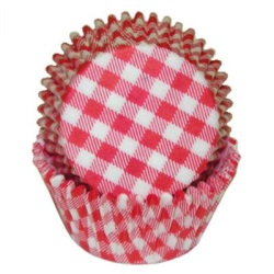 Standard Baking Cups - Gingham - Red
