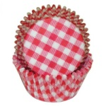 Standard Baking Cups - Gingham - Red THUMBNAIL