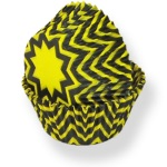 Standard Baking Cups - Black/Yellow Chevrons