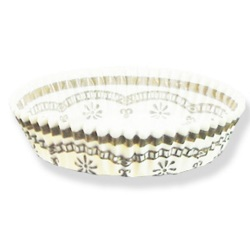 Tart Cup - Gold Edge LARGE