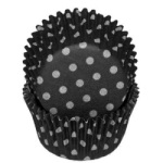Standard Baking Cups - Polka Dot - Black