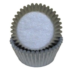 Mini Baking Cups - Solid - Silver