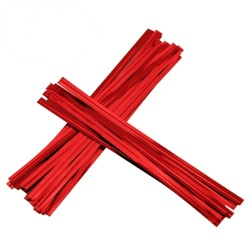 Twist Ties - Red Metallic LARGE