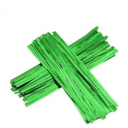Twist Ties - Green Metallic LARGE
