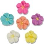 Royal Icing Drop Flowers - Pastel THUMBNAIL