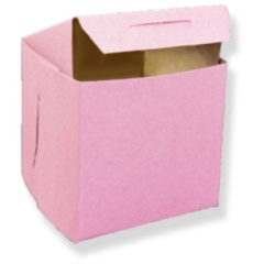 Single Cupcake Box - Pink LARGE