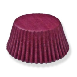 Standard Baking Cups - Solid - Burgundy LARGE