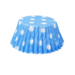 Mini Baking Cups - Polka Dots - Light Blue