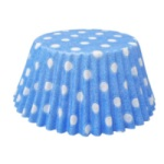Standard Baking Cups - Polka Dots - Light Blue THUMBNAIL