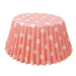 Standard Baking Cups - Polka Dots - Light Pink THUMBNAIL