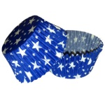 Standard Baking Cups - Blue w/White Stars
