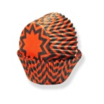 Standard Baking Cups - Black & Orange Chevron