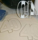 Number 40 Cookie Cutter THUMBNAIL