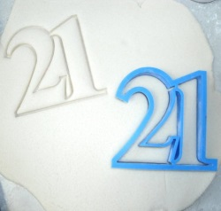 Number 21 Cookie Cutter LARGE