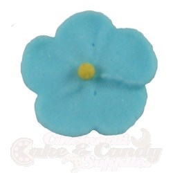 Royal Icing Forget Me Nots - Blue LARGE