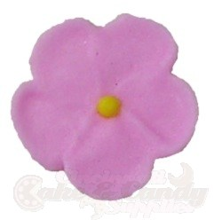 Royal Icing Forget Me Nots - Pink LARGE