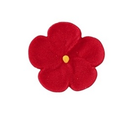Royal Icing Forget Me Nots - Red LARGE