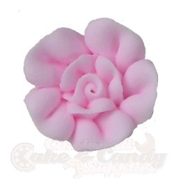 Small Royal Icing Roses - Light Pink LARGE