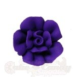 Medium Royal Icing Roses - Purple