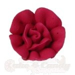 Small Royal Icing Roses - Red