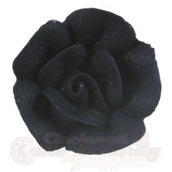 Medium Royal Icing Roses - Black LARGE